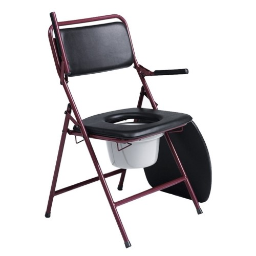 DELUXE COMFORT FOLDING COMMODE.