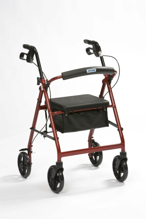 4 WHEELED ROLLATOR RED